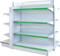 merchandise display case doule side supermarket shelving rack display shelf slatwall