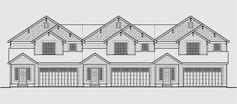 Multi Family House Plans Triplex Triplex House Plans Multi Family Homes Row House Plans Triplex