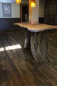 Laminate Flooring Association Flooring Curves Up From The Existing Wood To Form The Support For