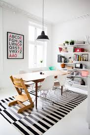 Modern Black And White Rugs 26 Ways To Use Ikea Stockholm Rug For Home Decor Digsdigs