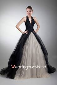 black wedding gowns buy gorgeous a line v neck halter black wedding dress from cheap