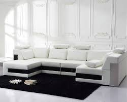 White Leather Sectional Sofa Off White Modern