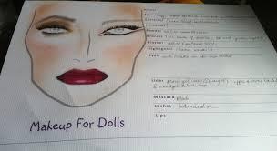 makeup artist sketchbook make up for dolls diy blank makeup charts