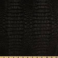 Buy Leather Upholstery Fabric Faux Leather Gator Black Discount Designer Fabric Fabric Com
