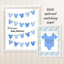 onesie clothesline baby shower guest book alternative boy