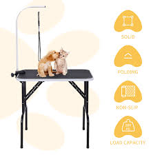 large dog grooming table 32 black large portable dog cat pet grooming table with arm noose