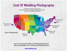 wedding photographers prices geographic cost of wedding photography in the u s