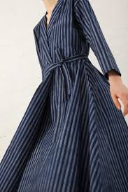 how to wash light colored clothes wrap dress in blue indigo print modern wardrobe spirit wear and