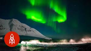 best month to see northern lights surfing under northern lights that s amazing youtube
