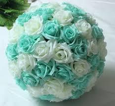 mint green flowers 10 25cm hanging flower wine wedding balls pomanders
