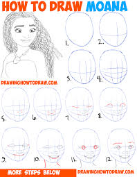 how to draw moana easy step by step drawing tutorial for kids and