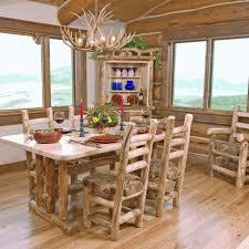 rustic log dining room tables woods log furniture aspen log dining table