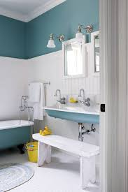 charming minimalist bathroom decor for teen with baby blue