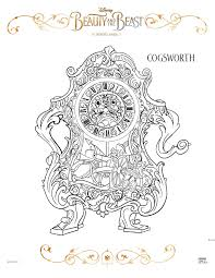 cogsworth coloring celebrate tale free