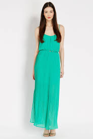oasis plain camisole maxi dress in green lyst