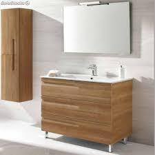 muebles de lavabo mueble lavabo royo vitale f 46 slim 80 cm nogal