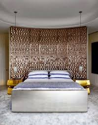 amazing modern headboard ideas with curved glittered materials