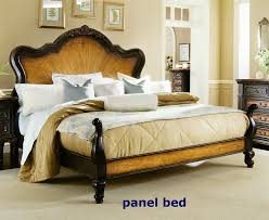 Hampton Bed North Hampton Panel Bed 6 Piece Bedroom Set In Two Tone Finish By