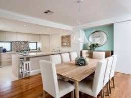 kitchen and dining room design to inspired for your house white open concept kitchen and dining room with chairs and brown floor
