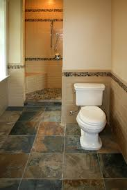 slate tile bathroom ideas slate tile floor and half wall tiles with border home design