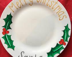 christmas plate santa plate christmas plate cookies for santa