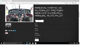 Piper Altimatic Iiic Autopilot Factory Service Overhaul Manual