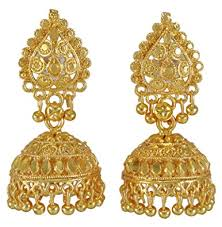 new jhumka earrings banithani traditional designer goldplated new jhumka earring set