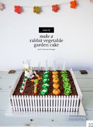Make A Vegetable Garden by Rabbit Vegetable Garden Cake For The Love Of George