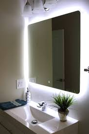 bathrooms design awesome lighted bathroom mirrors for home decor