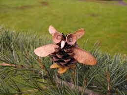 christmas craft idea pine cone owl learning learning the