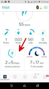 fitbit app android how to see exercise in android dashboard fitbit community