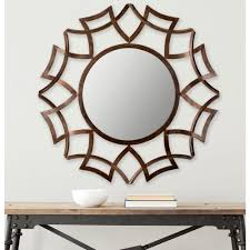 garden ridge wall mirrors safavieh inca sunburst 35 in x 35 in iron framed mirror mir4008b