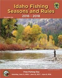 Fish And Game Table Fishing Seasons And Rules Idaho Fish And Game