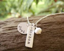 sterling silver tag necklace images Sterling silver tag etsy jpg