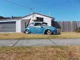 slammed willys jeep bagged patina 1963 vw beetle show off car slammed cool patina