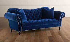 Tufted Sofa Velvet by Jessica Jacobs Velvet Parisian Midnight Button Tufted Sofa The