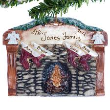 personalized ornament fireplace with by christmaskeeper