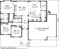 3 bedroom ranch house floor plans open ranch floor plans for 3 bedroom 2 bath homecar garage open