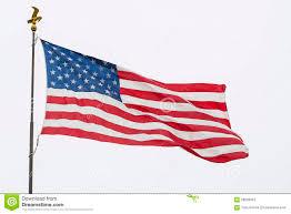 Waving American Flag Waving American Flag And Eagle Pole Isolated Stock Image Image