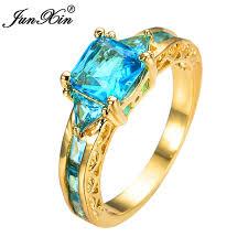 aliexpress buy gents rings new design yellow gold aliexpress buy junxin square design light blue men women