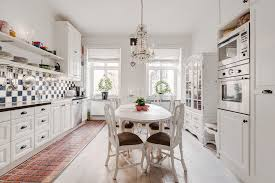 Classic White Kitchen Designs Classic White Kitchen Diner Interior Design Ideas