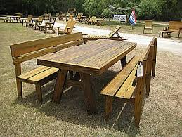 picnic table with separate benches mission benches other benches made by quality patio furniture