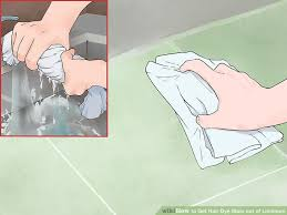 How To Remove Hair Dye Stains From Bathroom Surfaces 5 Ways To Get Hair Dye Stain Out Of Linoleum Wikihow