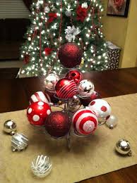 Christmas Table Decoration Ideas by Alluring Christmas Balls Centerpiece Ideas With Beautiful Iron