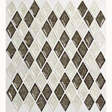 Harlequin Backsplash - american olean 12 in x 12 in allen roth harlequin glass mosaic
