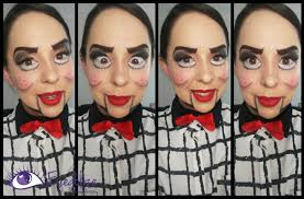 ventriloquist dummy halloween makeup tutorial by eyedolizemakeup