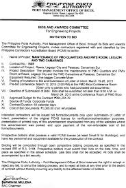 Letter Of Intent To Bid Template by Invitation To Bid Ppa Website