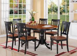 Black Oval Dining Table Plainville Oval Dining Table 42x78x30 With 18