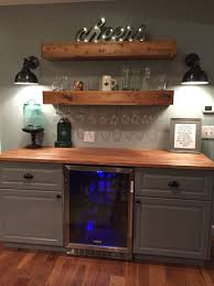 Dry Bar Furniture Ideas by Rustic Bar With Ikea Cabinets And Beverage Center Home