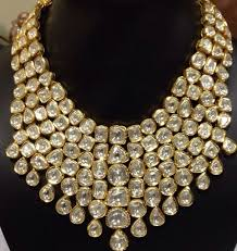 bib necklace designs images Jewelry diamond polki bib necklace uncut diamonds kundan jpg buy jpg